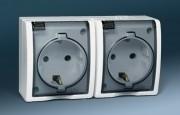 Розетки и выключатели IP44 Simon Aqua