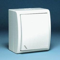 Выключатель одноклавишный IP54 белый 1594101-030