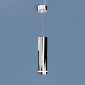 Подвесной светодиодный светильник DLR023 12W 4200K хром