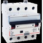 ДИФференциальный Автоматический выключатель legrand DX3 4P 10А, 6кА