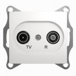 Розетка TV-R проходная Glossa GSL000195 белый