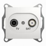 Розетка TV-SAT проходная Glossa GSL000198 белый