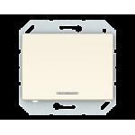 Выключатель одноклавишный с подсветкой VILMA XP500 Classic слоновая кость