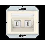 Розетка 2*USB VILMA XP500 Classic слоновая кость