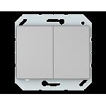 Выключатель двухклавишный VILMA XP500 Classic металлик