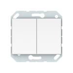 Выключатель двухклавишный Vilma Classic XP500 белый