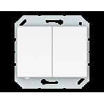 Двухклавишный проходной Vilma Classic XP500 белый
