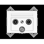 Телевизионная розетка проходная TV+SAT+R Vilma Classic XP500 белый