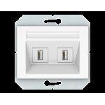 Розетка 2*USB  (информационная)Vilma Classic XP500 белый