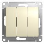 Выключатель трехклавишный Glossa GSL000231 бежевый