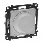 Светорегулятор (диммер) поворотный 5-300 Вт Valena life 752660 алюминий